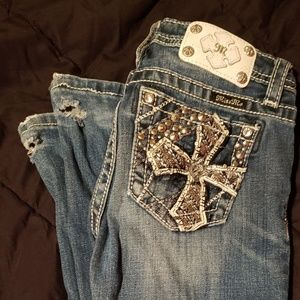 Miss me girls jeans size 14 bootcut